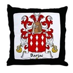Barjac Family Crest Throw Pillow