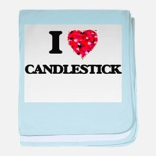 I love Candlestick baby blanket