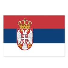 Serbia Flag Postcards (Package of 8)