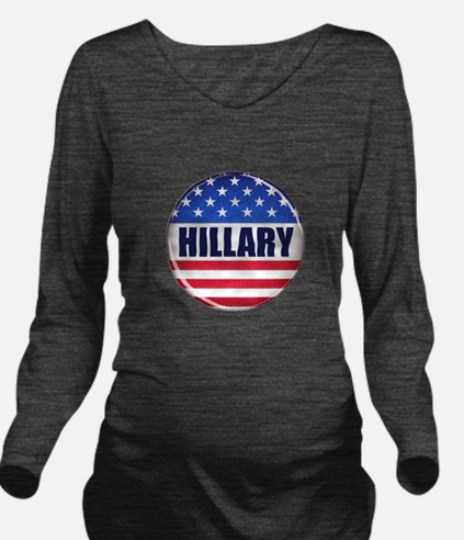 Vote Hillary 2016 Long Sleeve Maternity T-Shirt