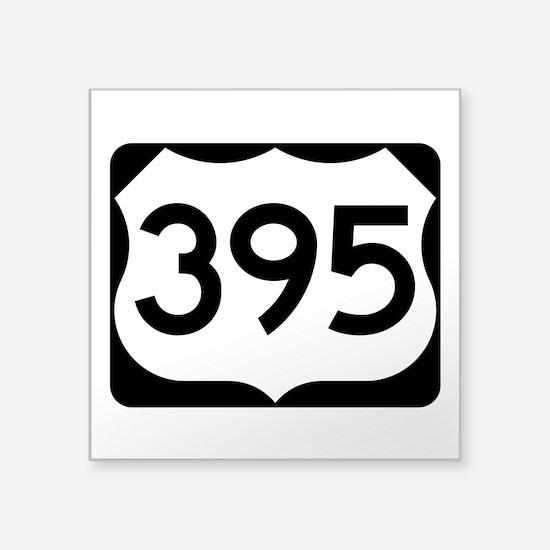 """Us Route 395 Square Sticker 3"""" X 3"""""""