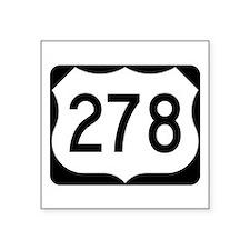 """Us Route 278 Square Sticker 3"""" X 3"""""""