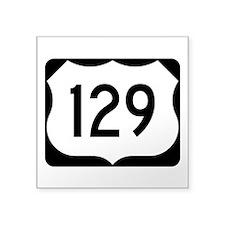 """Us Route 129 Square Sticker 3"""" X 3"""""""