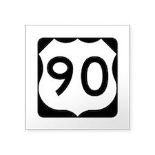 """Us Route 90 Square Sticker 3"""" X 3"""""""