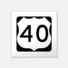 """Us Route 40 Square Sticker 3"""" X 3"""""""
