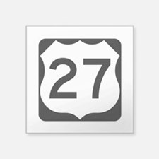 "Us Route 27 Square Sticker 3"" X 3"""
