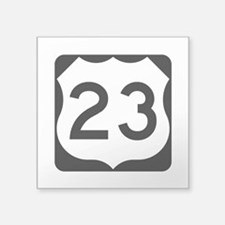 "Us Route 23 Square Sticker 3"" X 3"""