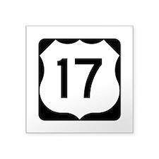 """Us Route 17 Square Sticker 3"""" X 3"""""""