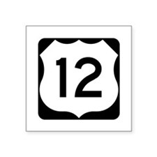 "Us Route 12 Square Sticker 3"" X 3"""