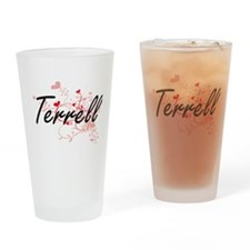 Terrell Artistic Design with Hearts Drinking Glass