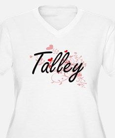 Talley Artistic Design with Hear Plus Size T-Shirt