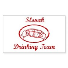 Slovak Drinking Team Rectangle Decal