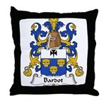 Bardot Family Crest Throw Pillow