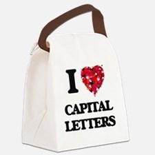 I love Capital Letters Canvas Lunch Bag