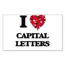 I love Capital Letters Decal