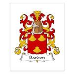 Bardon Family Crest Small Poster