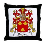 Bardon Family Crest Throw Pillow