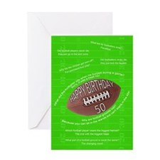50th birthday, awfull football jokes Greeting Card