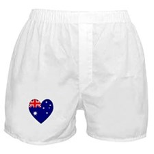 Australian Flag Heart 3 Boxer Shorts