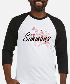 Simmons Artistic Design with Heart Baseball Jersey