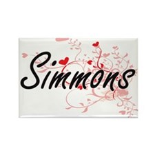 Simmons Artistic Design with Hearts Magnets