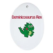 Dominicosaurus Rex Oval Ornament