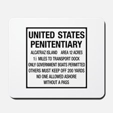 Alcatraz Island, Entrance Sign, USA Mousepad