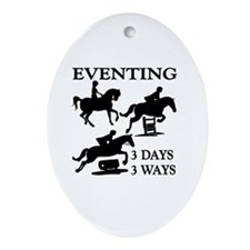 EVENTING 3 Day 3 Ways Oval Ornament
