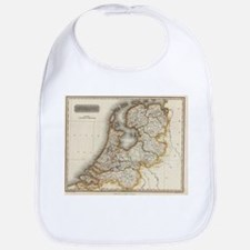 Vintage Map of Holland (1817) Bib