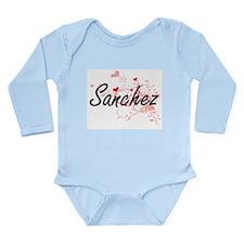 Sanchez Artistic Design with Hearts Body Suit