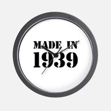 Made in 1939 Wall Clock