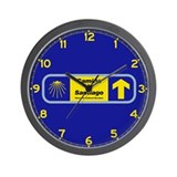 Camino de santiago Wall Clocks