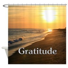 Gratitude Sunset Beach Shower Curtain