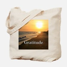 Gratitude Sunset Beach Tote Bag