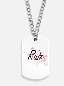 Ruiz Artistic Design with Hearts Dog Tags