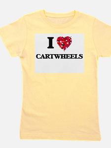 I love Cartwheels Girl's Tee