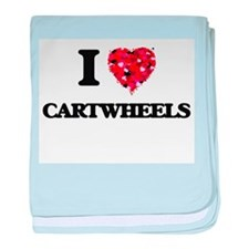 I love Cartwheels baby blanket