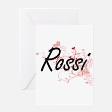 Rossi Artistic Design with Hearts Greeting Cards