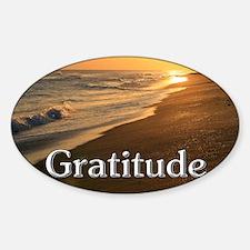 Gratitude Sunset Beach Decal
