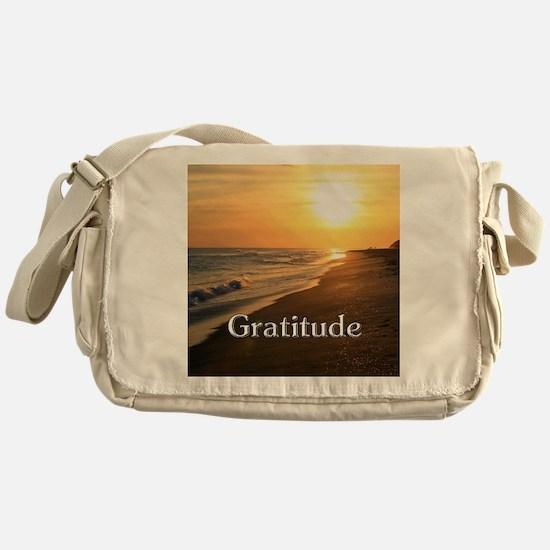 Gratitude Sunset Beach Messenger Bag