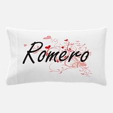 Romero Artistic Design with Hearts Pillow Case