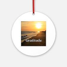 Gratitude Sunset Beach Ornament (Round)