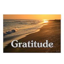 Gratitude Sunset Beach Postcards (Package of 8)