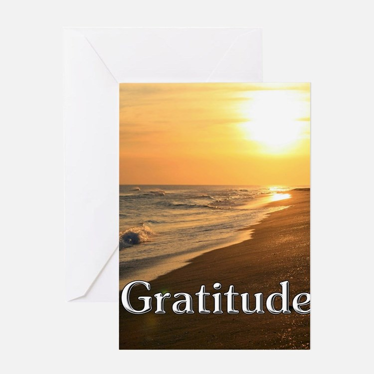 Gratitude Sunset Beach Greeting Cards