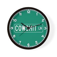 Cowshit Lane, Pennsylvania Wall Clock