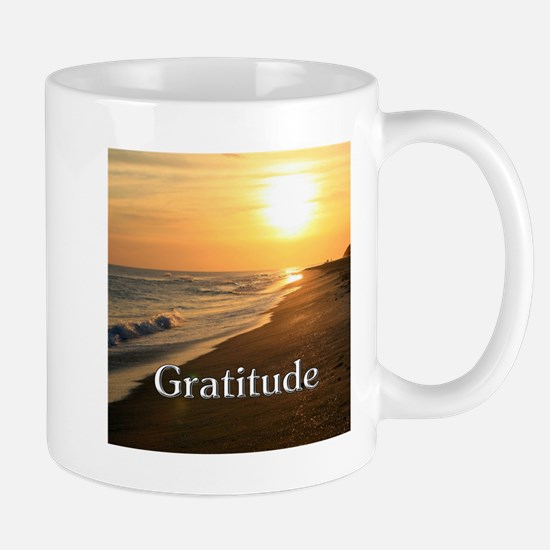 Gratitude Sunset Beach Mugs