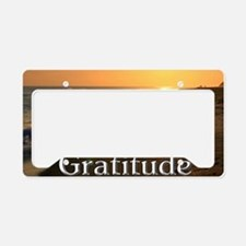 Gratitude Sunset Beach License Plate Holder