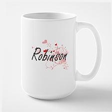 Robinson Artistic Design with Hearts Mugs