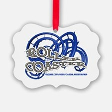 Youtube channel Roller Coaster BW Ornament