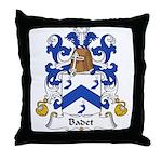 Badet Family Crest  Throw Pillow
